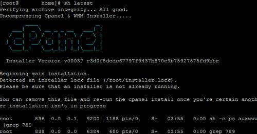 1.1. - Install cPanel di SSH