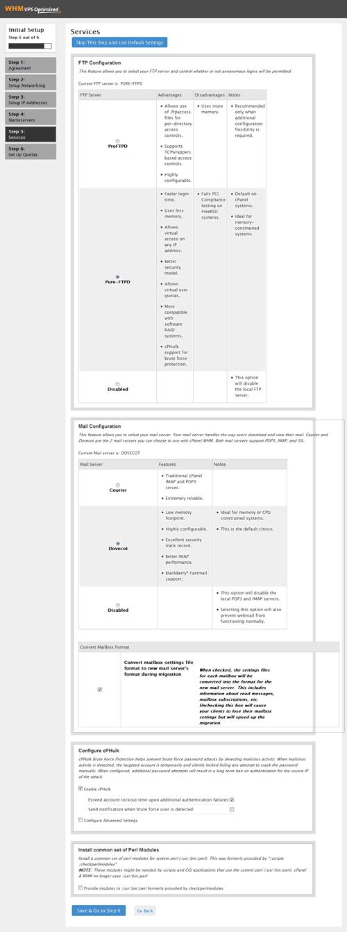 Gambar 1.4. - Setup cPanel bagian 5
