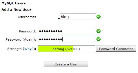 1.3. Create Database User.