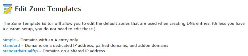 1.2. - Edit DNS Zone Templates