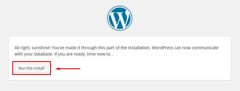 1.7. - Run the install.